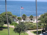 The La Jolla Cove Bridge Club is a private wedding location with beautiful views.