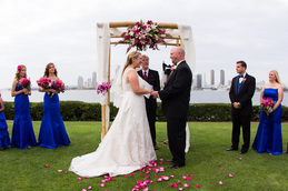 Centennial Park in Coronado is a great location for couple looking for small, coastal wedding venues.