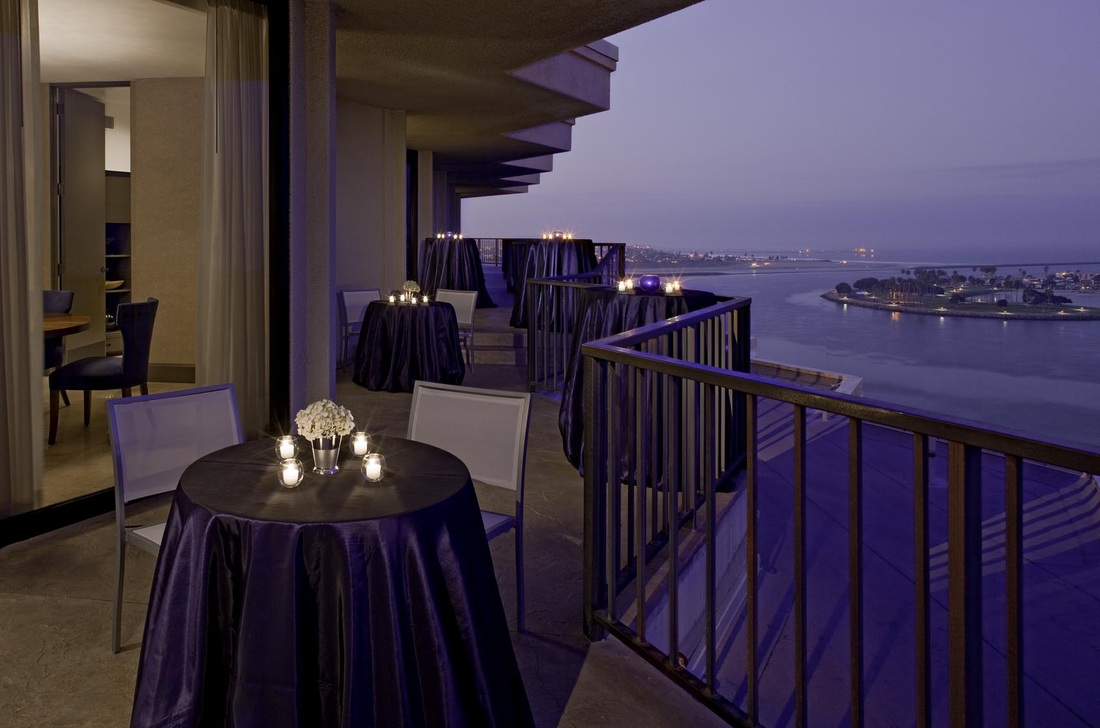 The Hyatt Penthouse in Mission Bay combines breathtaking views of the Pacific with sophisticated ambiance indoors.