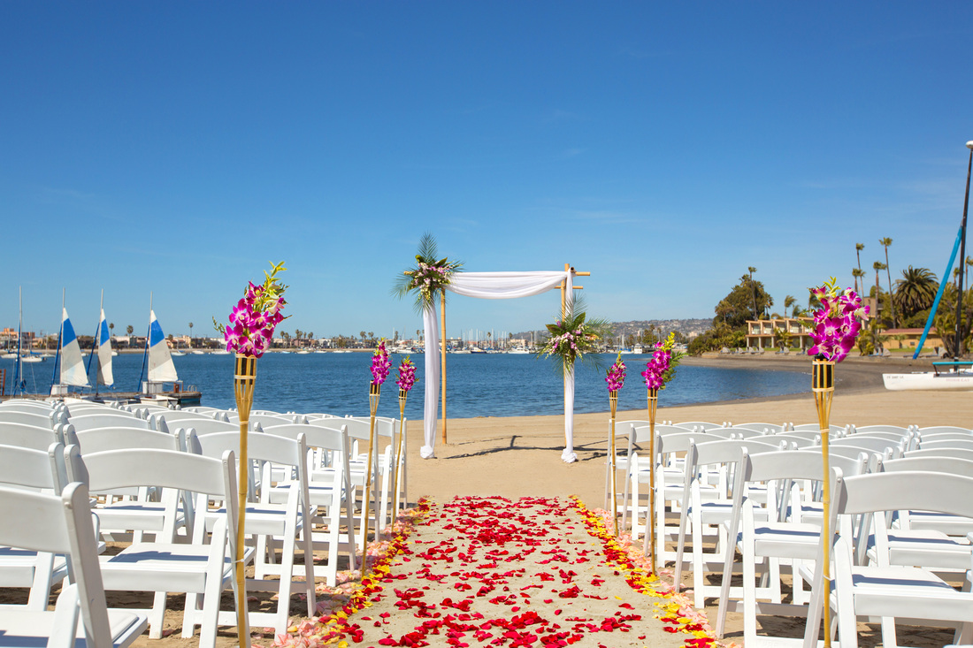 The Bahia Resort offers beautiful views that rank it among some of our favorite hotel wedding venues.