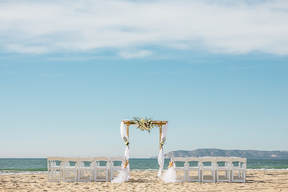 What could be more romantic and memorable than a ceremony and reception right on the white sands of the beach, with the quiet music of the ocean's waves? Our Silver Strand Beach location is one of the most beautiful outdoor wedding venues San Diego has to offer.